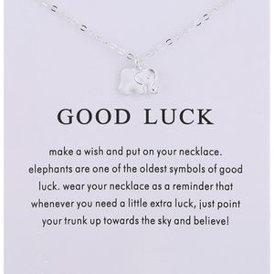 Jewelry - Inspirational Good Luck Elephant Necklace NEW
